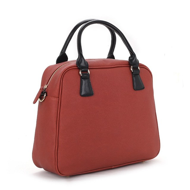 2013 NEW VANCL Women Fashionable PU Leather-look Finish Elin Top Handle Bag Brown Flat Base FREE SHIPPING