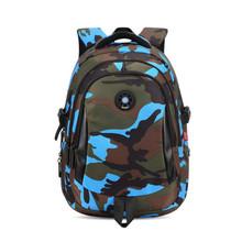 women travel backpack waterproof nylon bag kids backpack camouflage children backpacks schoolbag orthopedic school bag bookbag(China (Mainland))