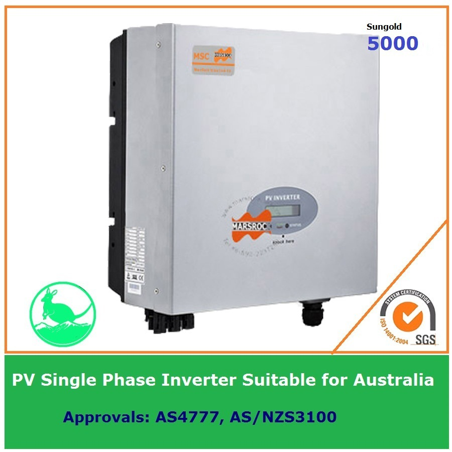 5000W Single Phase Grid Tie Solar Inverter 230VAC transformerless DC to AC on Grid with LCD display IP65 for Australia market(China (Mainland))