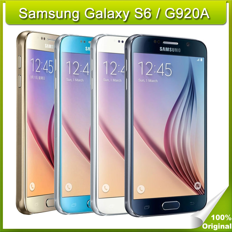 Unlocked Original Samsung Galaxy S6 / G920A (AT&T) Octa Core 3GB RAM 32GB ROM LTE 4G 16MP 5.1 inch SmartPhone WiFi, NFC(China (Mainland))