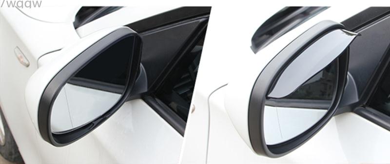 1Pair Car Back Mirror Eyebrow Rain Cover For Land Rover LR4 LR3 LR2 ...