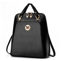 Women Brand Backpack Black Leather Mickey Leather Bags Mochilas Escolares Adolescentes Backpacks For Teenage Girls Back