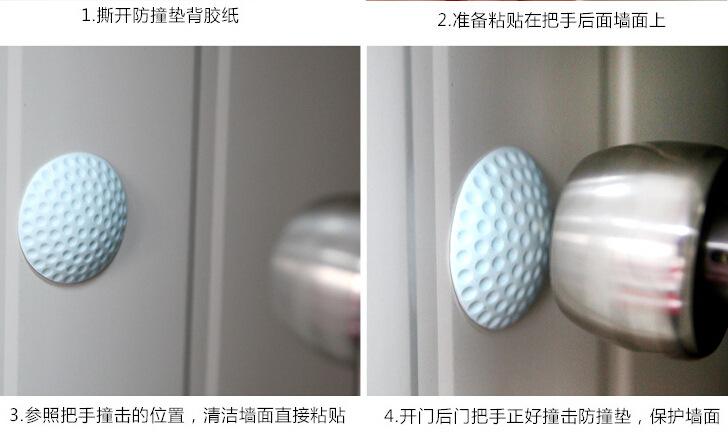 1960 mute door rear wall anti  cushion Golf molding rubber anti touch pad door handle door lock protection pad