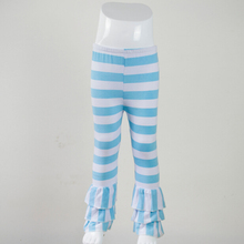 Children pants chevron Stripe pants Cotton legging Clothing New arrival toddler girl Trousers aqua stripe girls ruffle pants(China (Mainland))