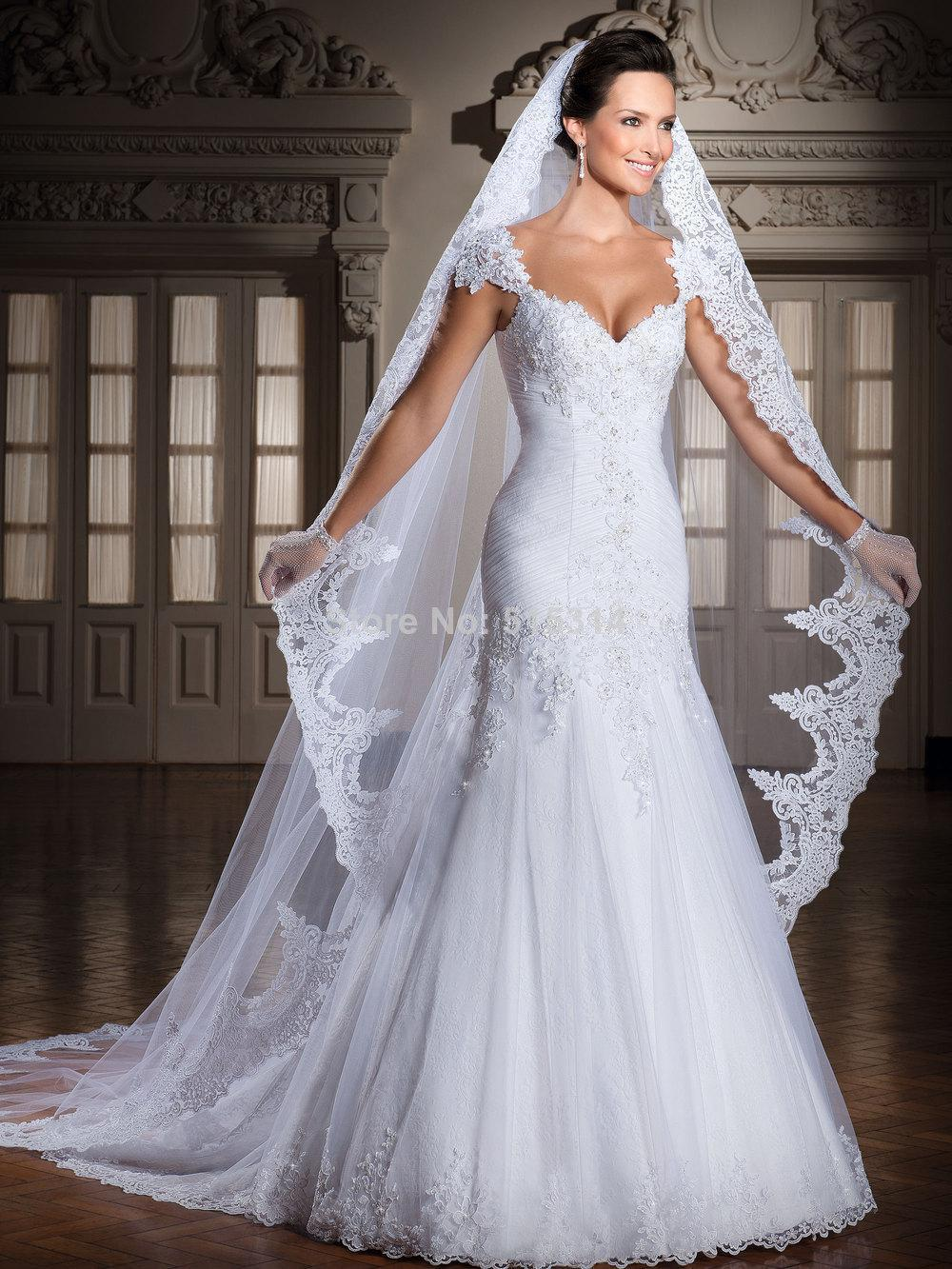 New design 2015 traditional wedding dress sexy a line for A line tulle wedding dress