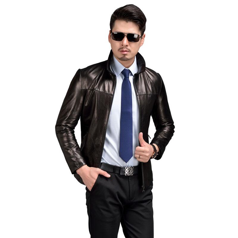 Argy Brand Mens Genuine Leather Jackets 100% Goatskin ... - photo #29