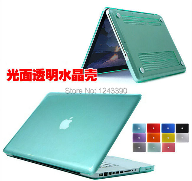 "For Apple Macbook Pro With Retina 13"" 15"" Ultrathin Colorful Clear Transparent Crystal Hard Plastic Case Cover(China (Mainland))"