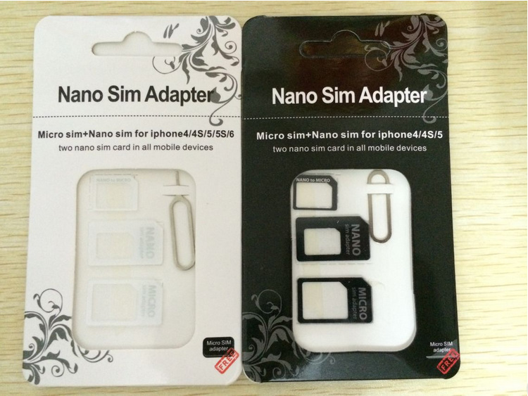 Micro+Standard+Nano Sim Card Adapters+Eject Pin Key Hot 4in1 For sansung iphone 4 5 6 metal Nano Micro Standard SIM Card Adaptor(China (Mainland))