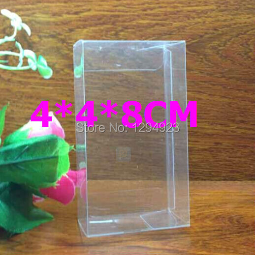 4*4*8cm cheap pvc packing clear plastic packaging boxes(China (Mainland))