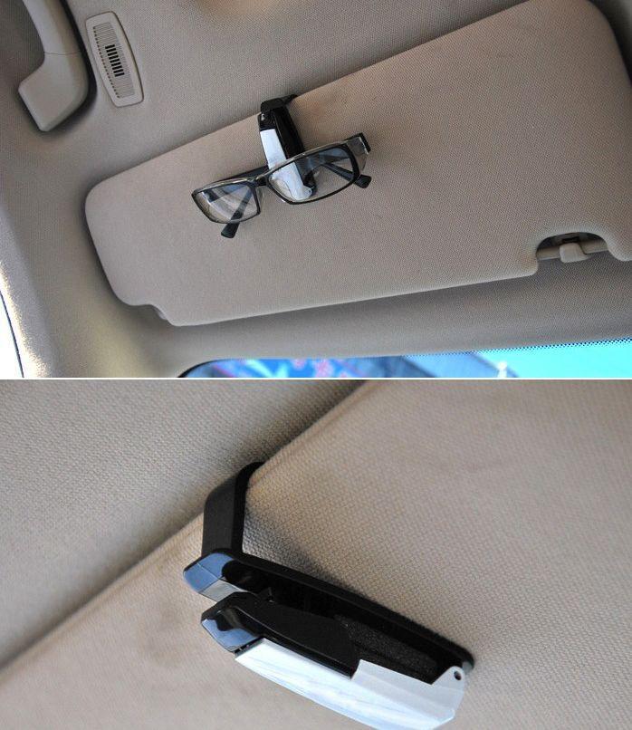 Car Vehicle Visor Accessories Sunglasses Glasses Card Pen Holder Ticket Clip