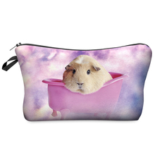 Multi Colors Clutch Storage Women Cosmetic Cases 3D Print Fashion Guinea Pig Clouds Lady Travel Handbag