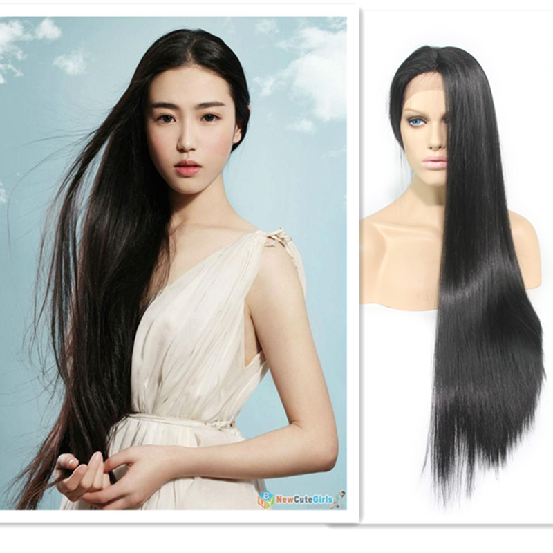 Fashion Cosplay Wig Womens Lady Long straight  Hair Full Wigs Party Costume Wig <br><br>Aliexpress