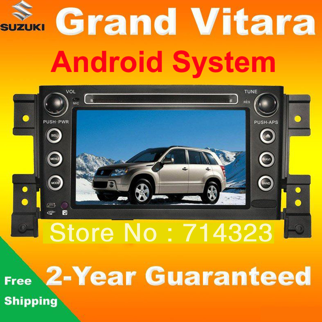 Android 2 Din Car PC DVD Player for For Suzuki Grand Vitara with GPS 3G WIFI Radio TV Bluetooth Audio PIP SWC 3D Rotate Menu