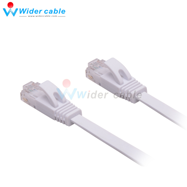 White Snagless Flat RJ45 CAT6 Short Ethernet Patch Cable 0.5m (1.5mm*6.0mm thickness )(China (Mainland))