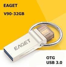 EAGET V90 OTG USB 3.0 100% 32GB Smart Phone Tablet PC USB Flash Drives  OTG External Storage Micro 32g Pen Drive Memory Stick