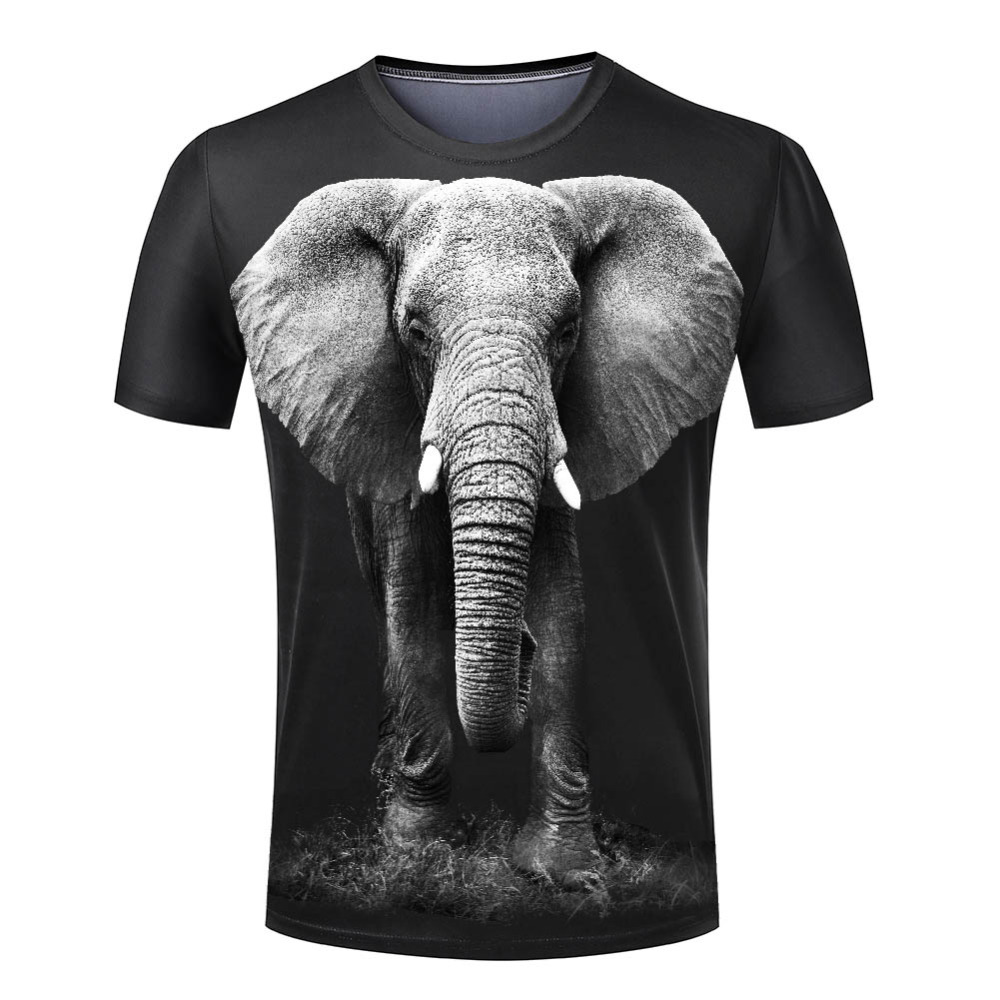 The Elephant 3D Printing Man O-Neck Top Tees Male Clothing Summer New Hot T Shirts Free Shipping  O neck ClothingОдежда и ак�е��уары<br><br><br>Aliexpress