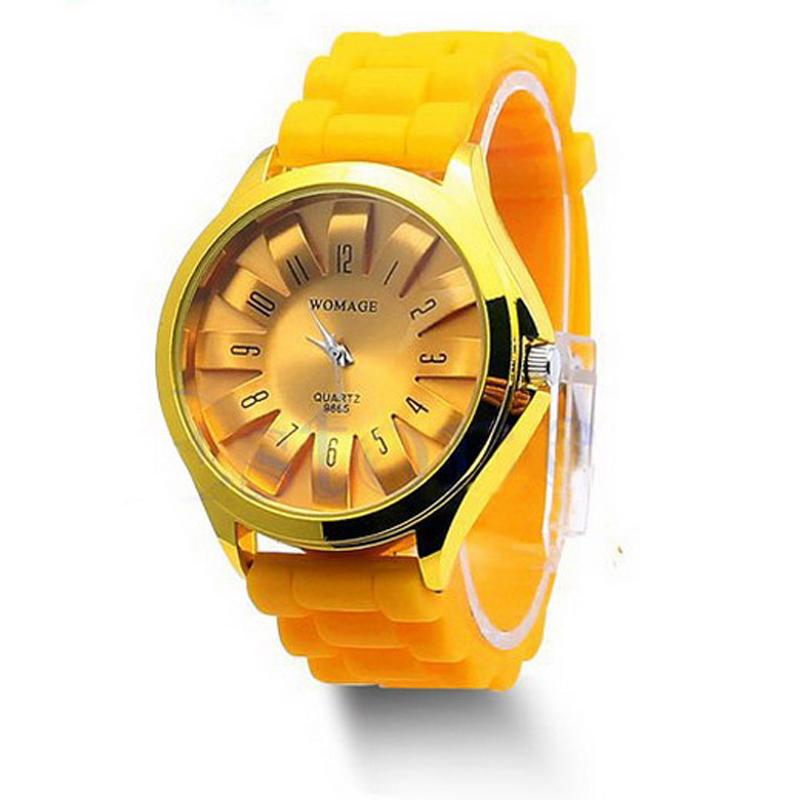 6 Colors Hot Stylish Silicone Quartz Sport Geneva Jelly Wrist Watch Quartz Analog Sports Wrist Watch Casual Women Watch VB058 P(China (Mainland))