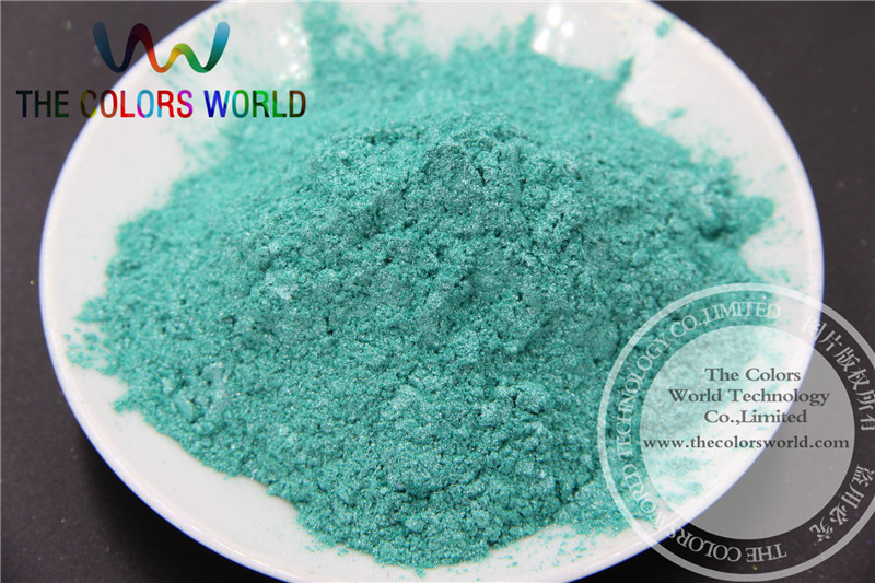Sparkle Green Color Pearlescent pigment,pearl luster pigment,Mica Powder DIY Makeup Nail Design ,Nail Polish 1 lot= 50g(China (Mainland))