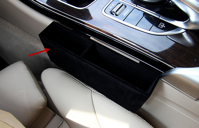 for mercedes benz c class w205 2014 2015 interior front central storage box decorative cover. Black Bedroom Furniture Sets. Home Design Ideas