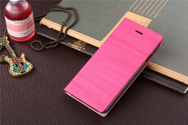 Hot Sale Elegant Wood Grain For ZTE Q201T Wallet Flip Phone Leather Case Cover With Stand And Card Slots Free Shipping(China (Mainland))