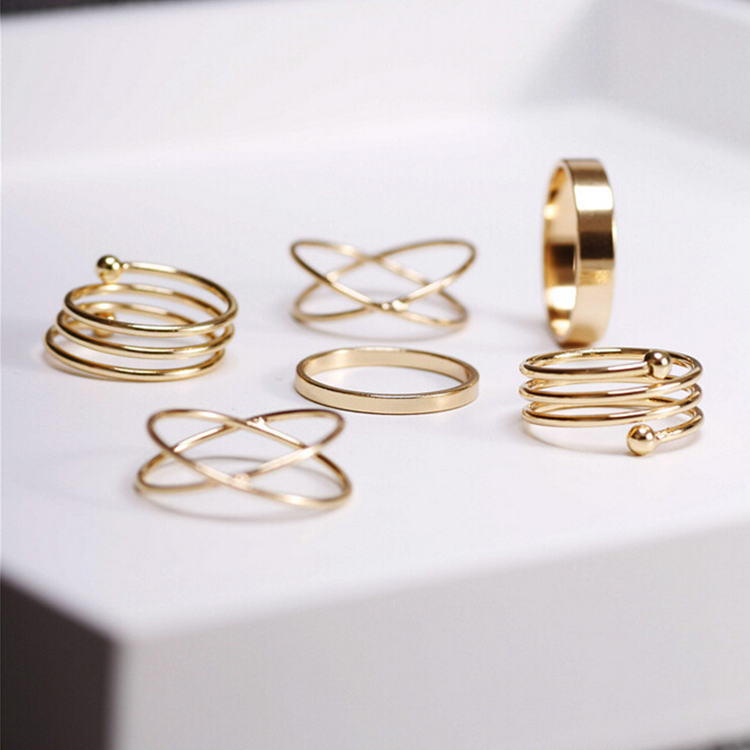 punk gold plated stackable Knuckle midi rings for women Finger Ring bague Ring Set anillos mujer