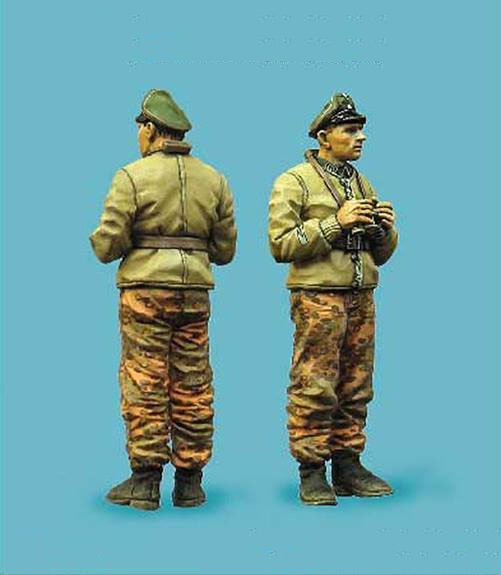 Free Shipping 1/35 Scale Resin Figure WWII German tanks investigation commissioned officers(China (Mainland))