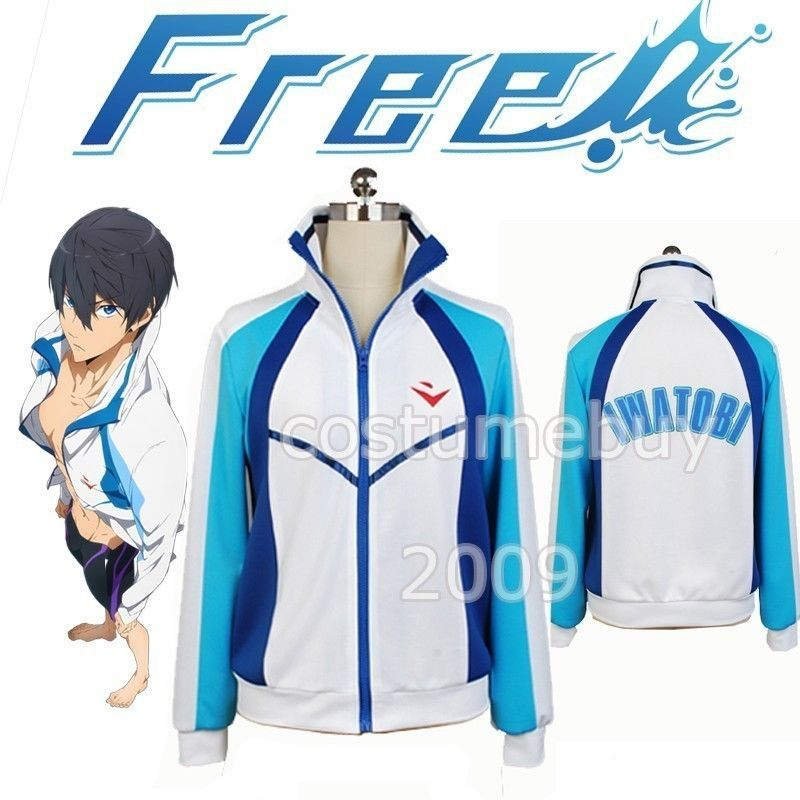 Casual Free! Iwatobi Swim Club Haruka Nanase jacket Sport Hoodie Anime Cosplay Costume(China (Mainland))