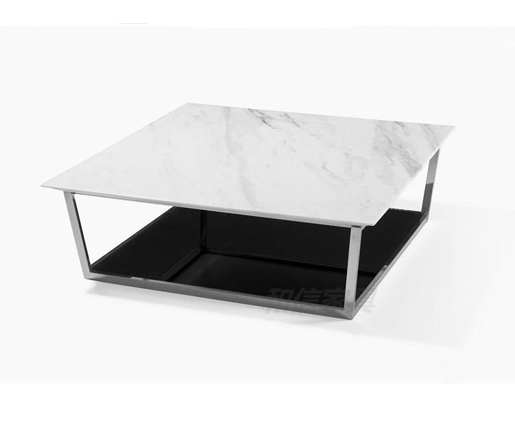 Post Modern Coffee Tables: Post-modern-coffee-table-fashion-simple-square-white