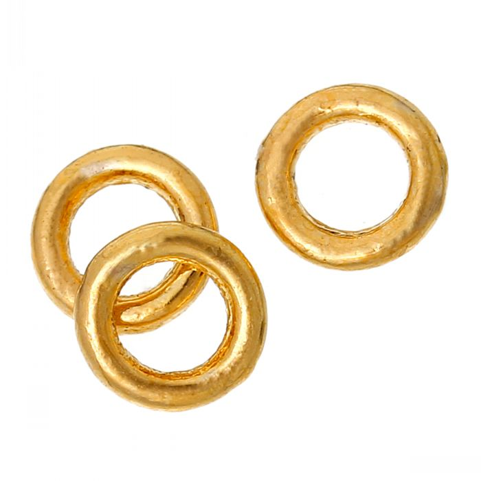 Closed Soldered Jump Rings Round Gold Plated 4mm Dia,3000 PCs(China (Mainland))