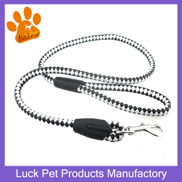 Luck Pet Products 2015 New Arrival High Quality Strong Dog Training Rope Leads Fashion Braided Leather Dog Leashes SM203(China (Mainland))