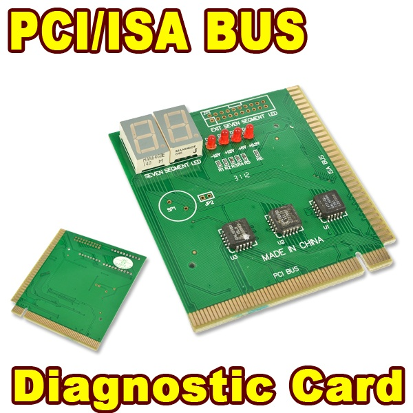 PCI / ISA Bus MB Diagnostic POST CARD Tester for PC Computer 2 Digit Display Mainboard Motherboard Analyzer Adapter(China (Mainland))