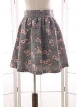 Buy Sweet Mori Girl Short Skirt Floral Printed Houndstooth Patterned Mini Skirt Women for $32.99 in AliExpress store