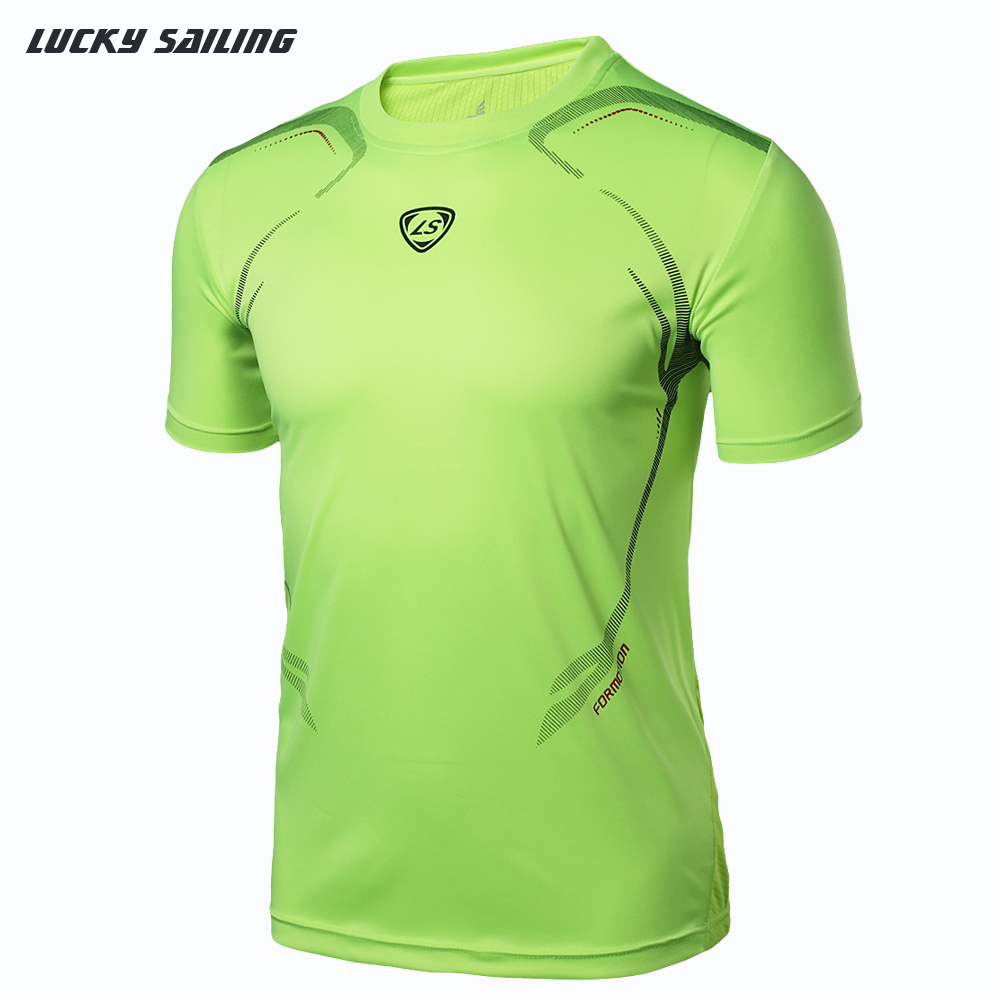 Lucky Sailing Wholesale 2015 Men Tops Tees Quick Dry Brand