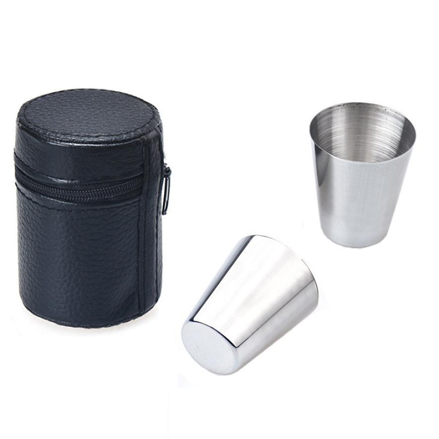Стильный 6 шт. 30 мл чашки миски из нержавеющей стали , вино стакан пива кружки кухонный инвентарь