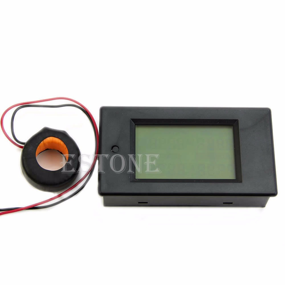 Hot New AC 80 260V LCD Digital 100A Volt Watt Power Meter Ammeter Voltmeter