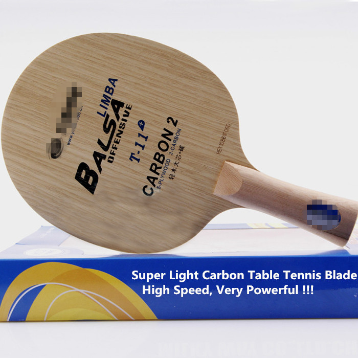 1 piece Exclusive quality table tennis blade penhold T-11 Cypress wood & Carbon fiber Super Light High speed board(China (Mainland))