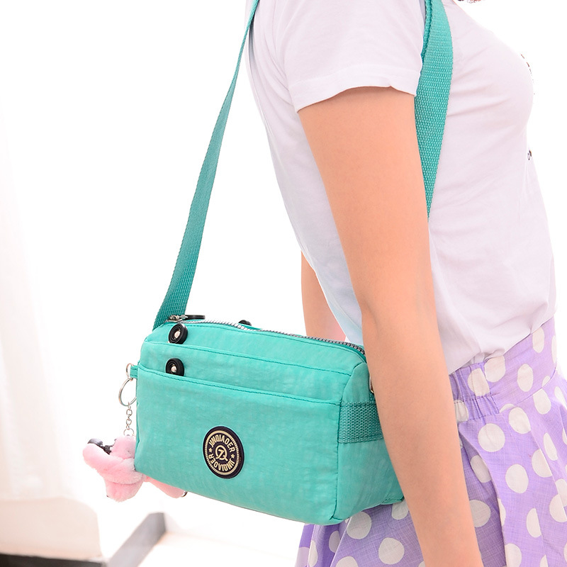 2016 New Waterproof Nylon Shoulder Bag Diagonal Package Korean Female Bag Multicolor Fashion Bag Manufacturers Wholesale(China (Mainland))