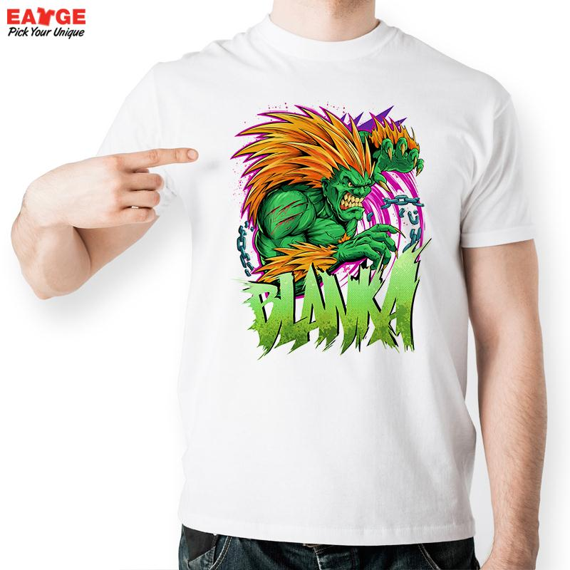 Blanka In Game Street Fighter Green Lion T Shirt Design T-shirt Cool Novelty Funny Tshirt Style Unisex Top Printed Fashion Tee(China (Mainland))