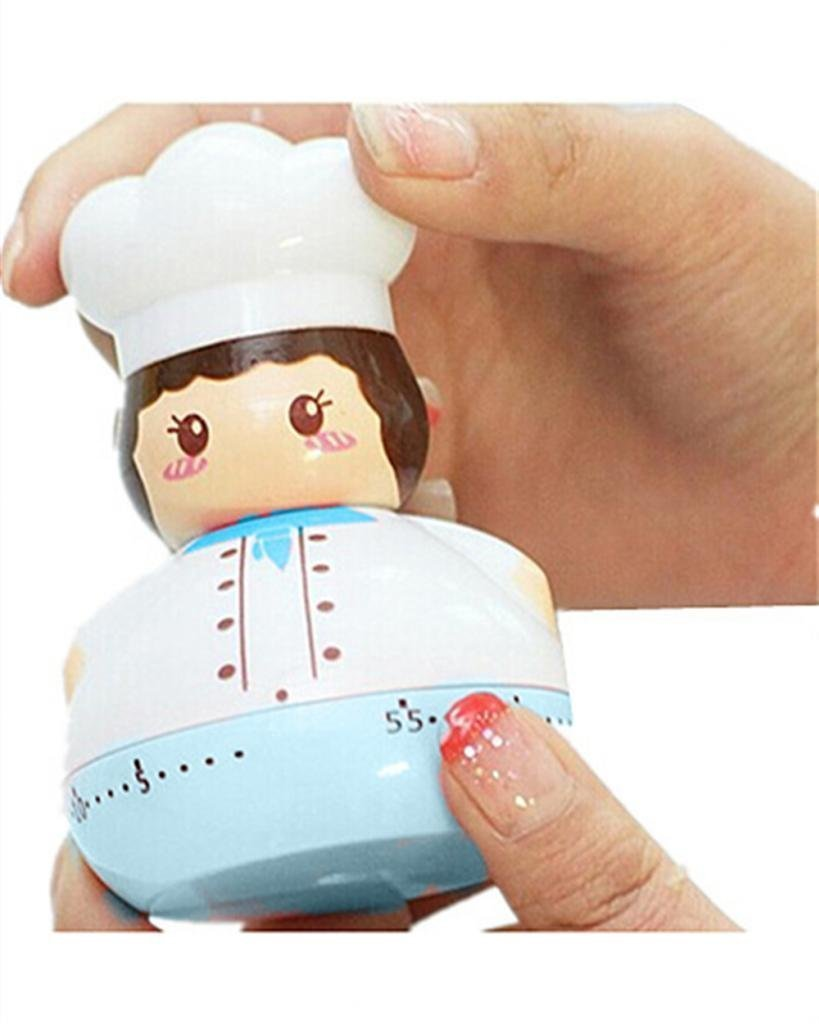 Lovely Cartoon Chef Cook Kitchen Timer Clock Mechanical Movement(China (Mainland))