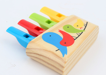 New Arrival Baby Toys Child Rainbow Panpipe Wooden Toys Birds Whistling Infant Musical Toy Eduactional Gift(China (Mainland))