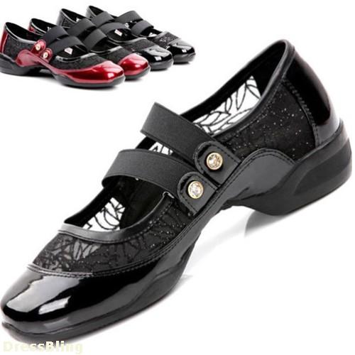 New Women's Shoes Capezio Lites Latin Jazz Dance Sneakers Ballroom Shoes Black & Wine Buckles(China (Mainland))