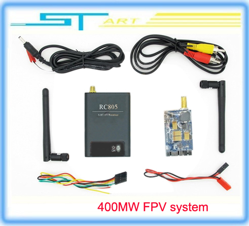 Фотография FPV 5.8G 400mw 8 Channel wireless 5.8Ghz AV Audio Video TX&RX Transmitter and Receiver system RC805 & TX305 Fast Shipping