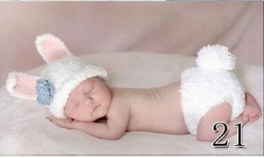 Newborn Baby Infant Crochet Knit Beanie Animal Design Photography Props Hat(China (Mainland))