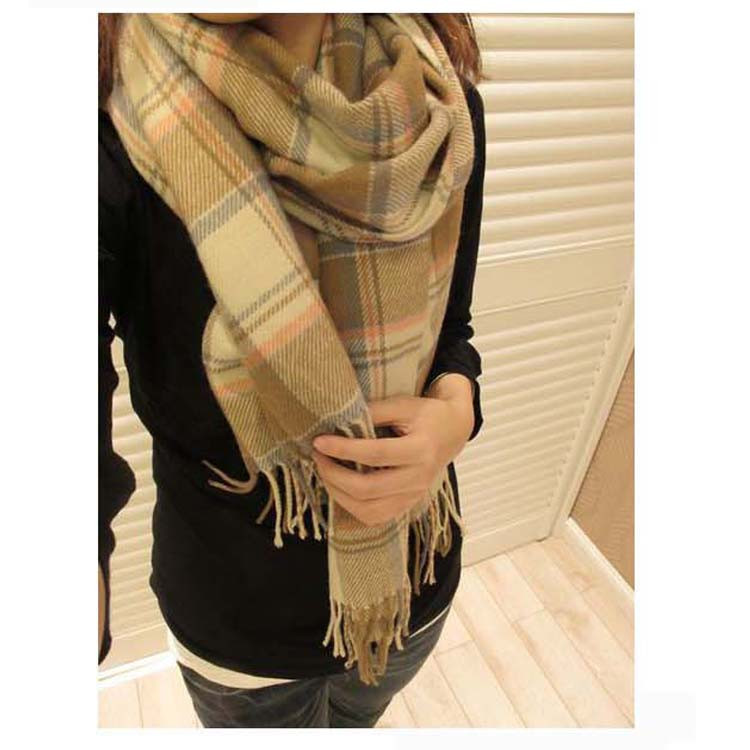 2014 Korean The New Autumn and Winter Imitation Cashmere Ladies Women Wool Scarf Shawl Long Scarf Free Shipping WJ003(China (Mainland))