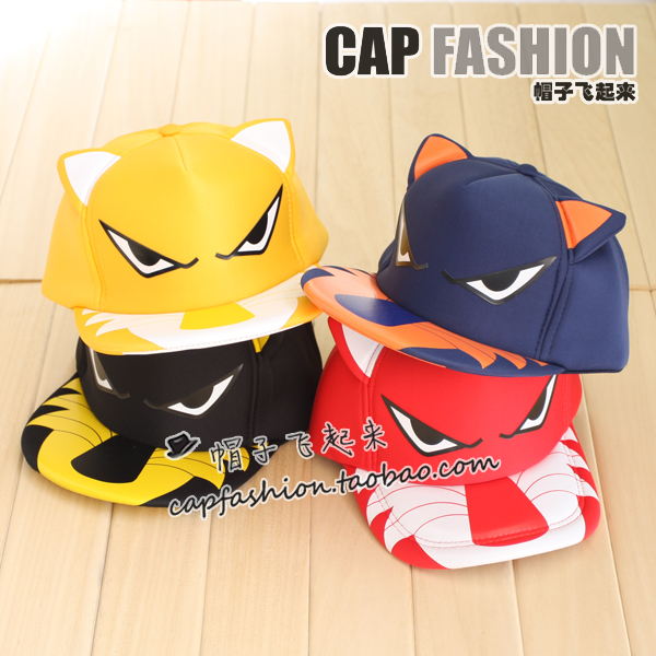 Spring summer tiger ear hats hip-hop hiphop cap truck mesh cap male women's lovers hat