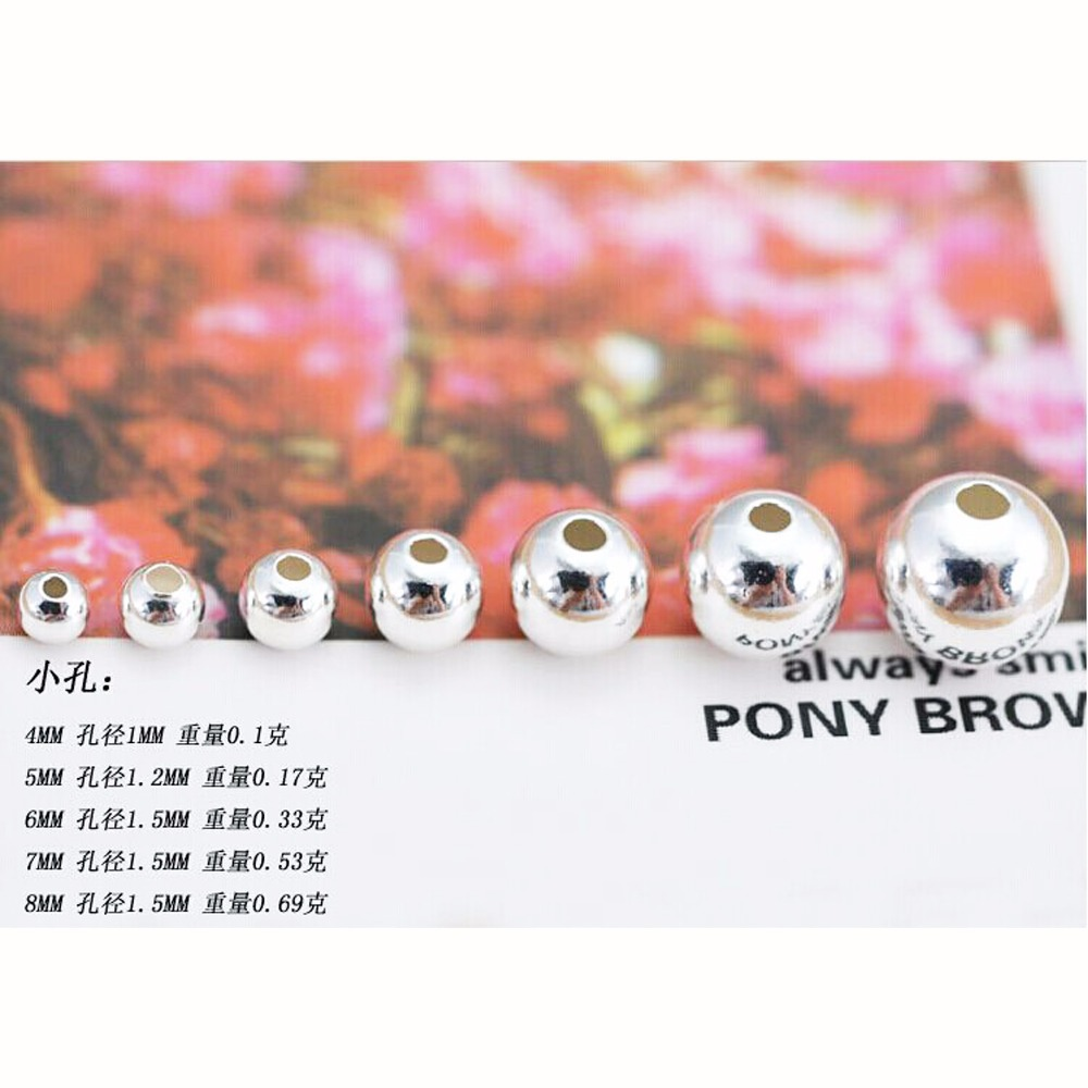 Sterling silver jewelry accessories diy accessories beads 990 silver beads insulation accessories wholesale(China (Mainland))