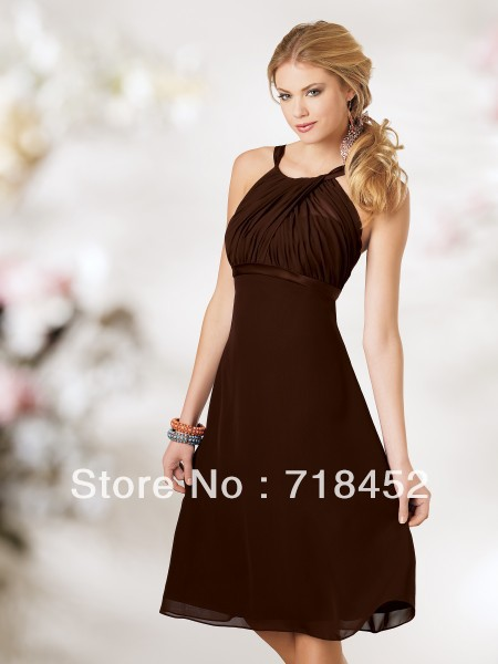 Cheap Fall Brown Dresses In Stock Cheap Bridesmaid