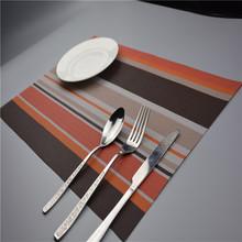 10pcs Placemats 30*45cm Dining Table Mat PVC Insulation Kitchen Accessories Set Coasters Acessorios Non Slip Plastic Sale