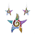 MS1504256 Hot Sale Starfish Necklace Earring Set High Quality Jewelry Sets Dropshipping Wholesale Animal Jewlry