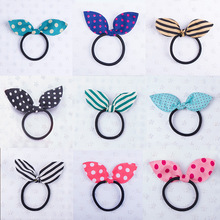 Buy 10PCS/lot New Fashion Girls Headwear Bow Dot Elastic Hair Bands Rabbit Ears Hair Accessories Baby Hairbands Children Hair Ropes for $1.16 in AliExpress store